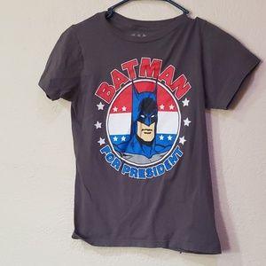 Batman for Presdient gray tshirt XS